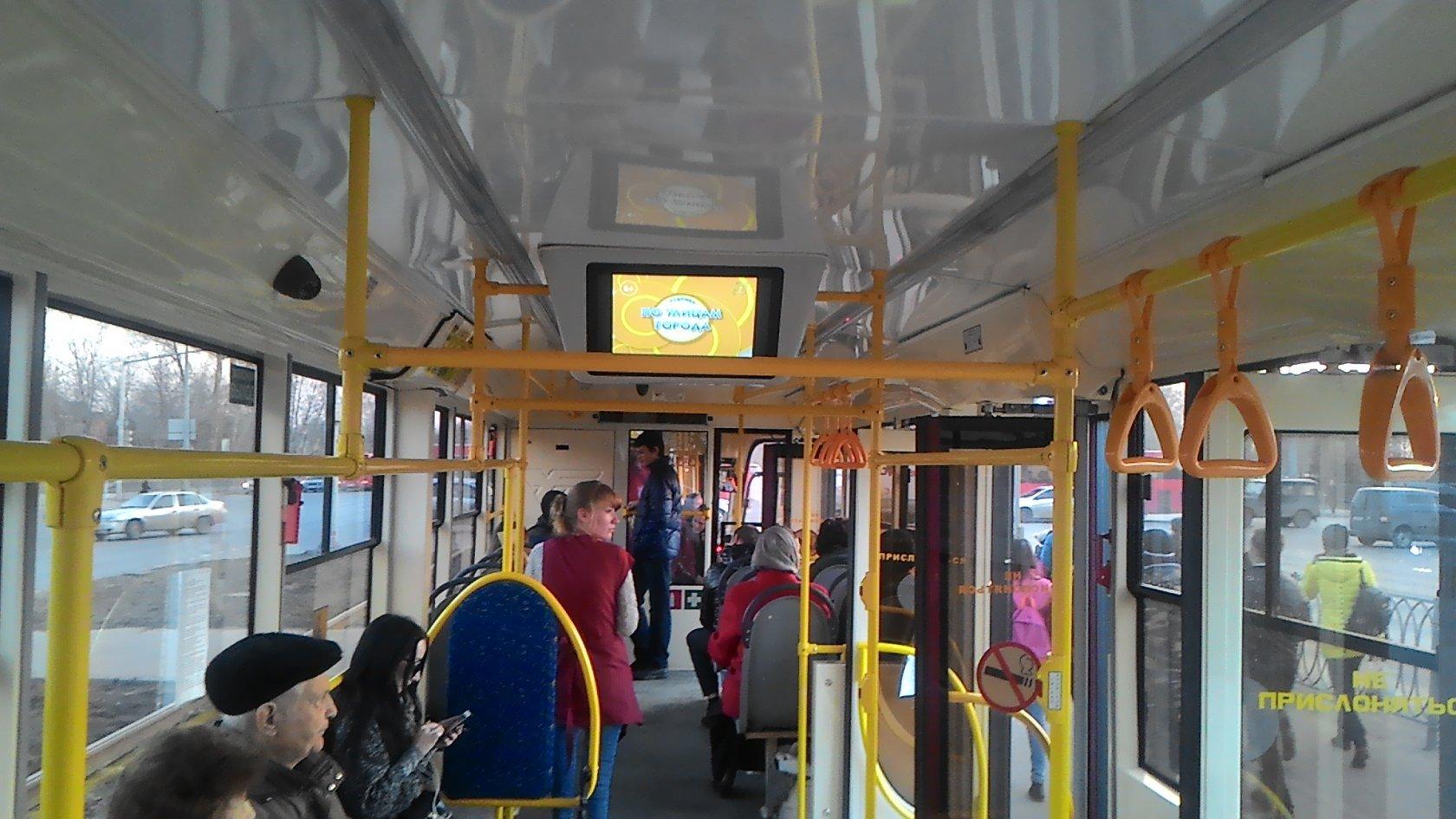 Размещение видеорекламы в городском транспорте